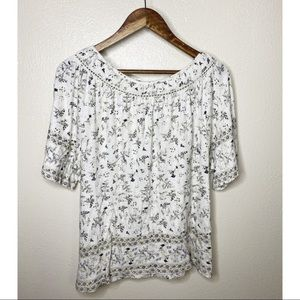 Lucky Brand Floral Blouse, New with Tags